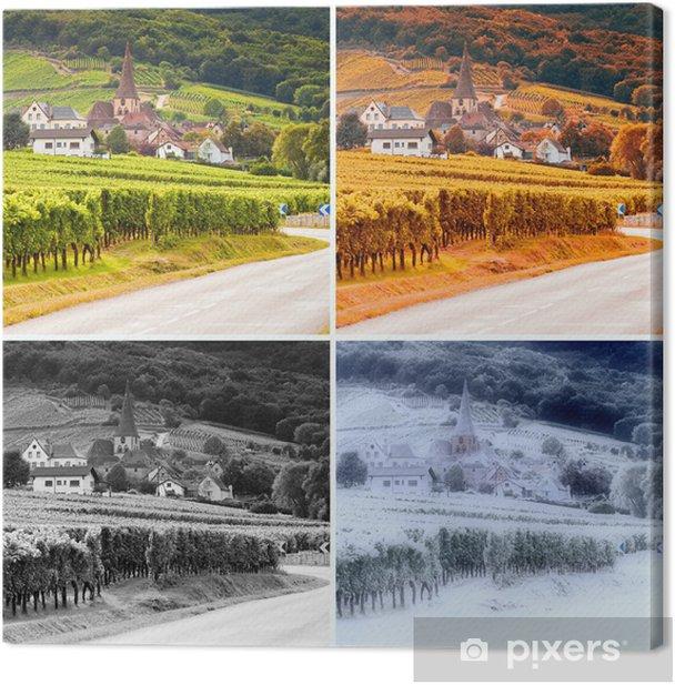 Obraz na płótnie Winnice i 4 pory roku - Pory roku