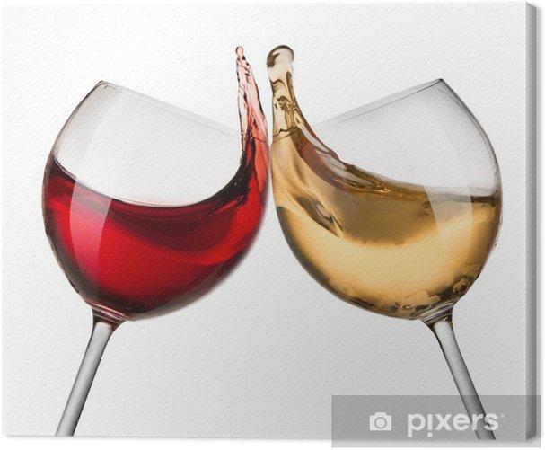Obraz na płótnie Wino czerwone i białe fale - Alkohol