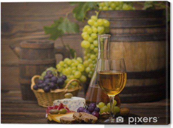 Obraz na płótnie Wino i ser - Tematy