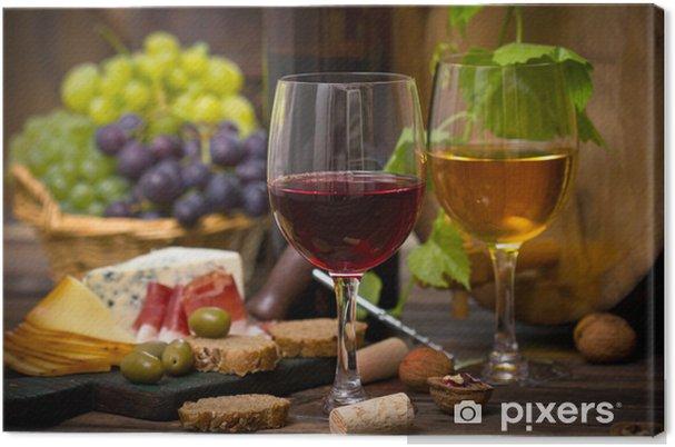 Obraz na płótnie Wino i ser - Do kuchni