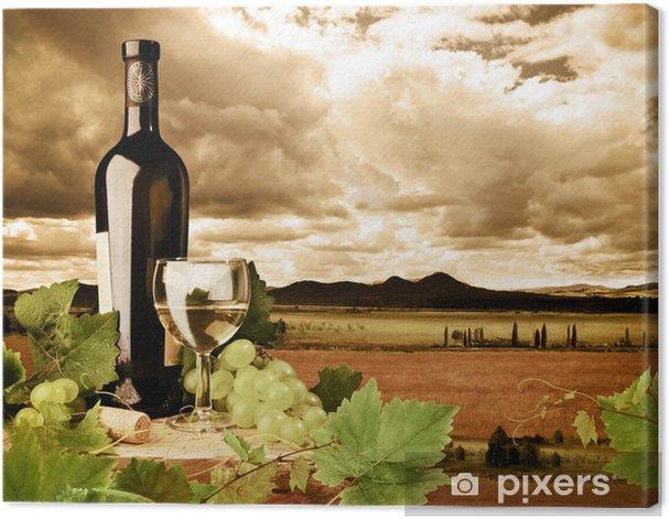 Obraz na płótnie Wino i winnice w zachodzie słońca - Tematy