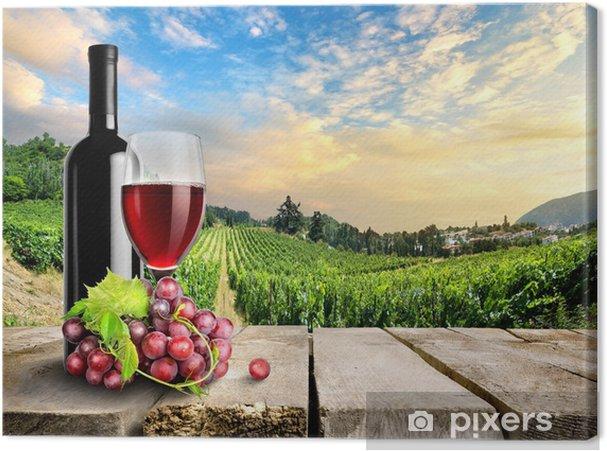 Obraz na płótnie Wino z winogron i winnicy - Tematy