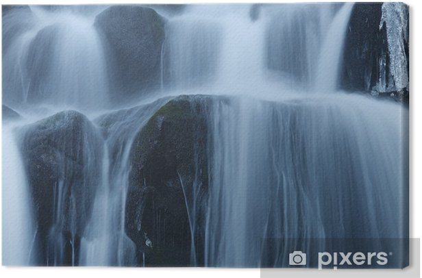 Obraz na płótnie Winter Waterfall - Pory roku