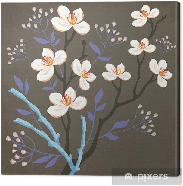 Obraz na płótnie Wiosennych kwiatów i wierzba - Kwiaty