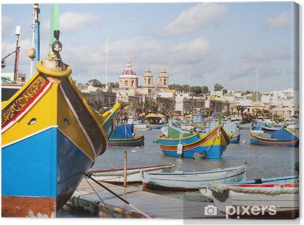 Obraz na płótnie Wioska rybacka Marsaskala - Europa
