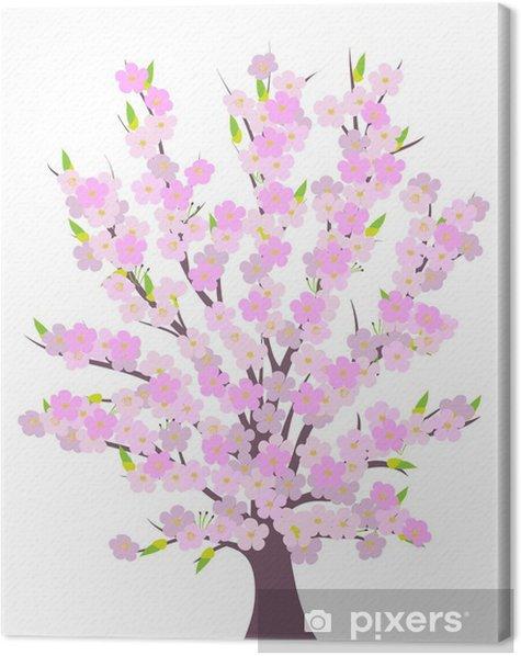 Obraz na płótnie Wiosna, drzewo, kwiat, wektor Cherry - Pory roku