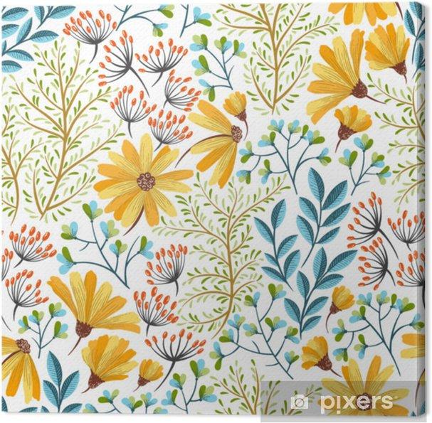 Obraz na płótnie Wiosna kwiatowy wzór - Rośliny i kwiaty