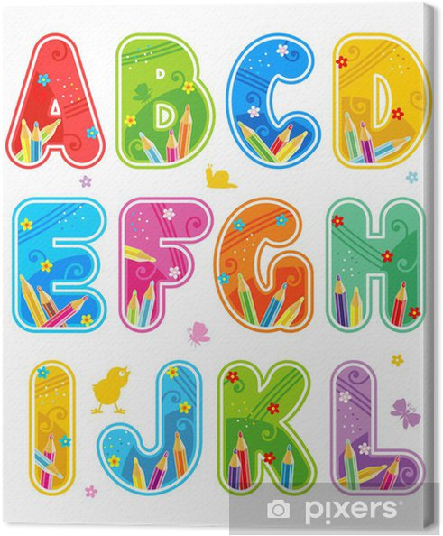 Obraz na płótnie Wiosną lub latem zestaw liter alfabetu - l - Tematy