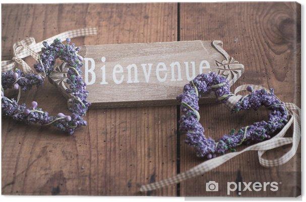 Obraz na płótnie Witamy - Bienvenue we Francji - Sprzedaż