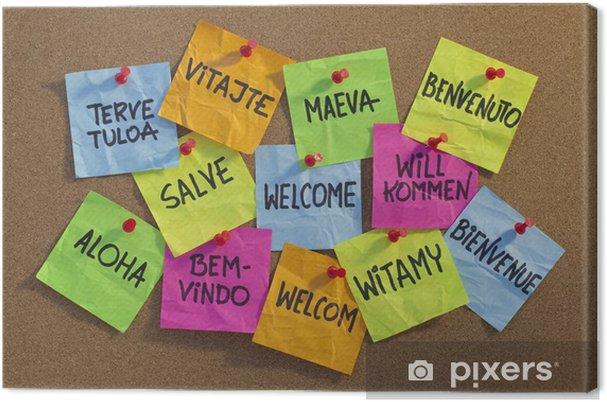 Obraz na płótnie Witamy, witamy, Bienvenue, aloha, ... - Tła