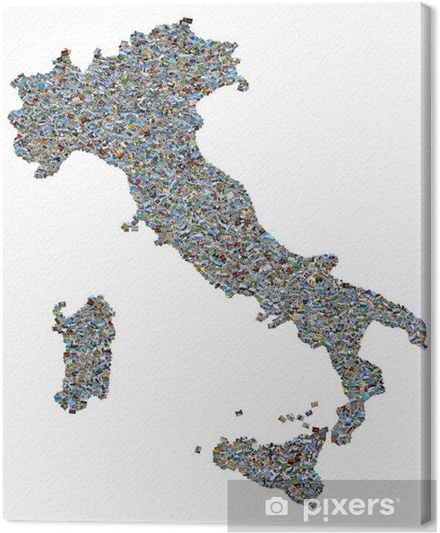 Obraz na płótnie Włochy mapa z 2733 zdjęć zdjęcia - Wakacje