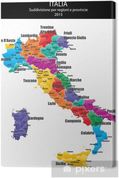 Obraz na płótnie Włochy Mapy miasta - Akcesoria