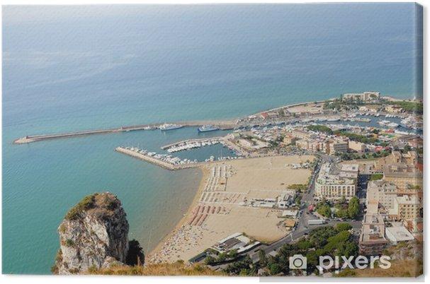 Obraz na płótnie Włochy Terracina port i plaża - Europa