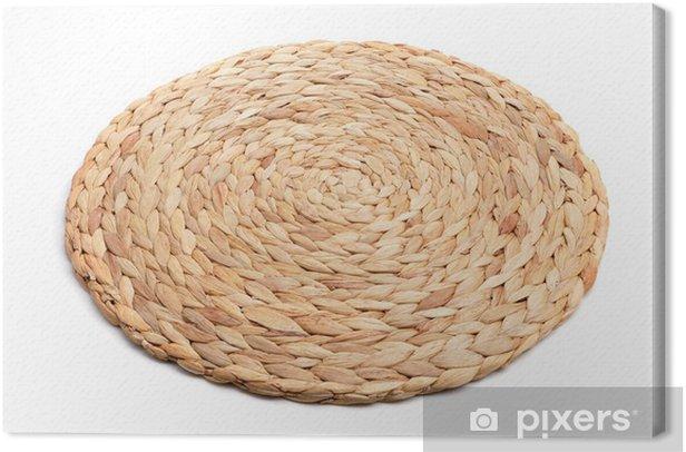 Obraz na płótnie Włókien naturalnych mat pleciony trójnóg -