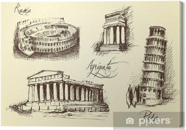 Obraz na płótnie Włoska symbole architektoniczne - Sztuka i twórczość