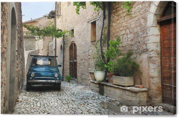 Obraz na płótnie Włoski stary samochód, Spello, Włochy - iStaging