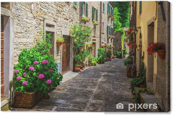 Obraz na płótnie Włoski ulicy w małym prowincjonalnym miasteczku toskański - Tematy