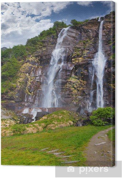 Obraz na płótnie Wodospad acquafraggia - Wodospady