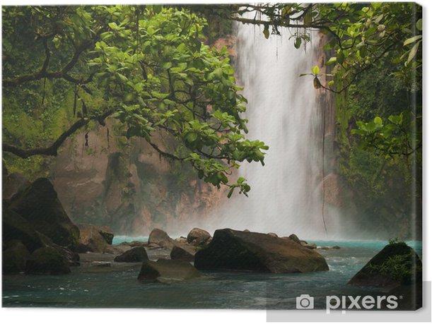 Obraz na płótnie Wodospad niebiański niebieski - Tematy