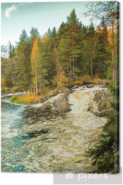Obraz na płótnie Wodospad w Karelii - Pory roku