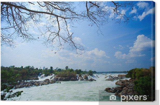 Obraz na płótnie Wodospad w południowej części Laosu - Cuda natury