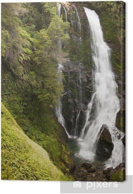 Obraz na płótnie Wodospad w wąwozie - Woda