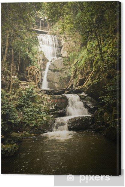Obraz na płótnie Wodospad - Góry