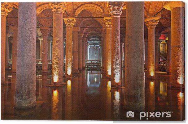 Obraz na płótnie Wody podziemne Basilica Cistern - Istanbul - Kolumny i łuki