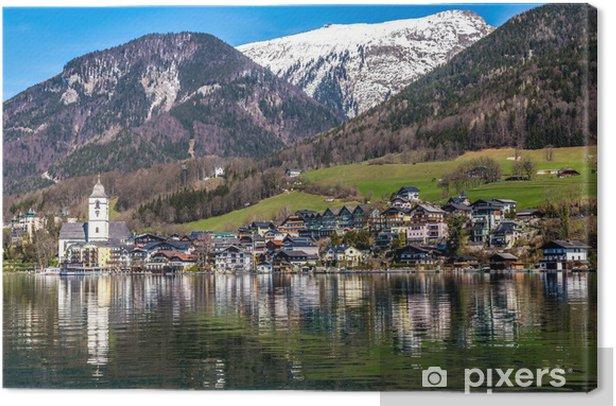 Obraz na płótnie Wolfgang jezioro, wieś, Grosser Hollkogel-Austria - Woda
