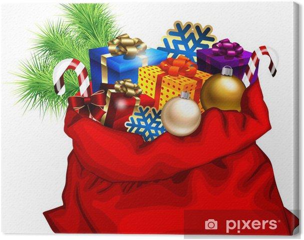 Obraz na płótnie Worek Boże Narodzenie prezenty - Święta międzynarodowe