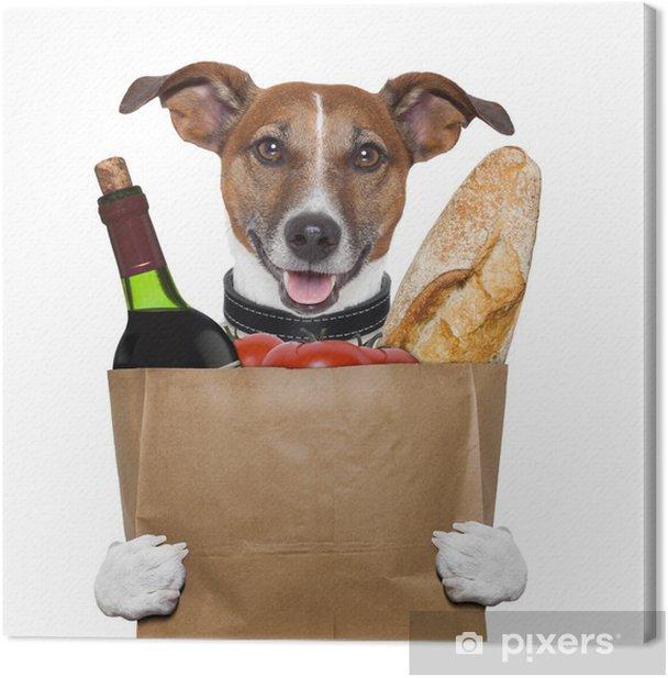 Obraz na płótnie Worek pomidory wino spożywczy pies chleb - Naklejki na ścianę