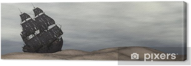 Obraz na płótnie Wrak starą łódź - Klęski żywiołowe