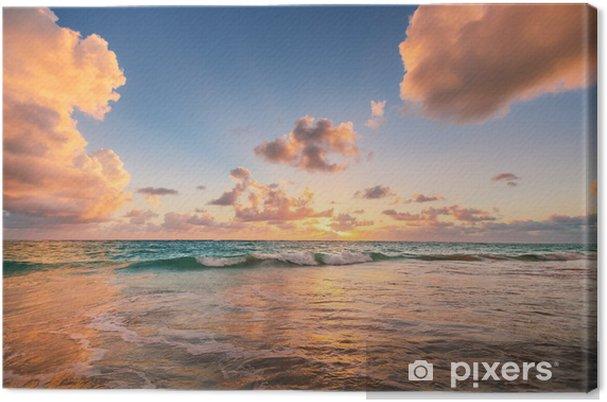 Obraz na płótnie Wschód słońca na plaży w Morzu Karaibskim - Style