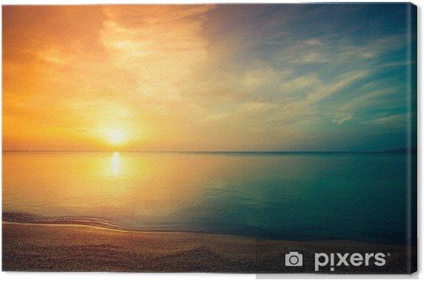 Obraz na płótnie Wschód słońca nad morzem - Krajobrazy