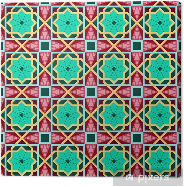 Obraz na płótnie Wschodnia tradycyjnych ornament, wschód szwu. Geometryczny - Tła