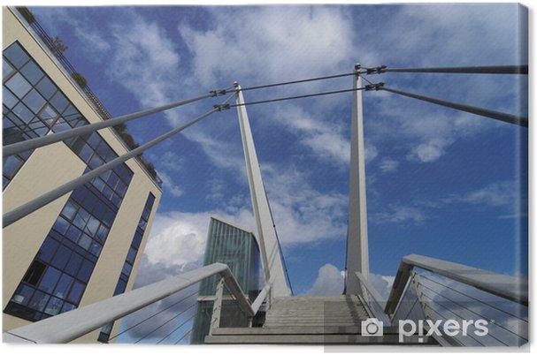 Obraz na płótnie Wschodnich przedmieściach Paryża, schody i windy na most wiszący - Infrastruktura