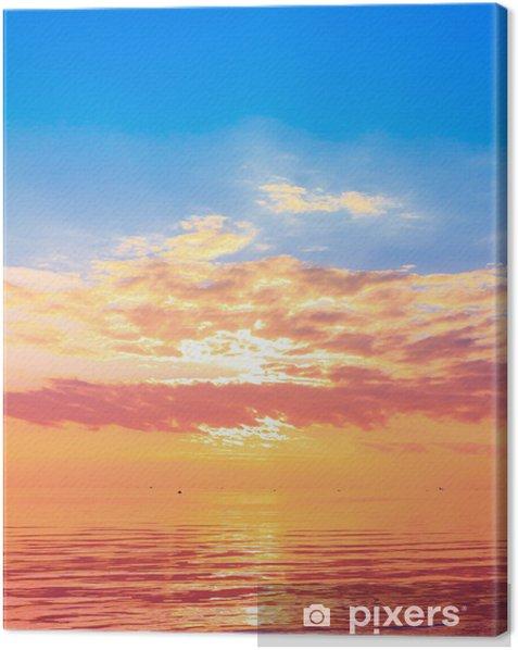 Obraz na płótnie Wschodzące słońce panorama - Pory roku