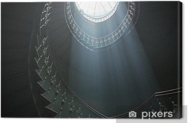 Obraz na płótnie Wspaniały widok na sunlights w ciemnym wnętrzu - Budynki prywatne