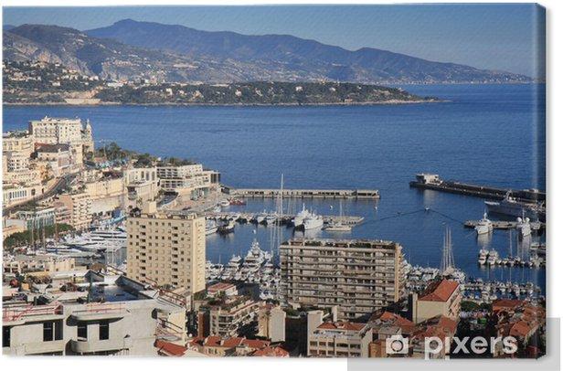 Obraz na płótnie Wybrzeża Morza Śródziemnego z Monte Carlo w Monako. - Europa