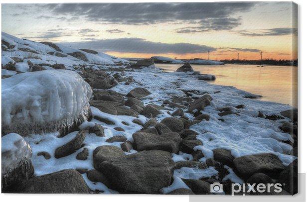 Obraz na płótnie Wybrzeże Morza Bałtyckiego marca - Pory roku