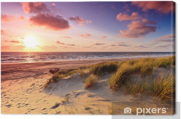 Obraz na płótnie Wybrzeże z wydmami o zachodzie słońca - Tematy