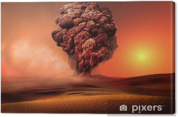 Obraz na płótnie Wybuch wulkanu - Niebo