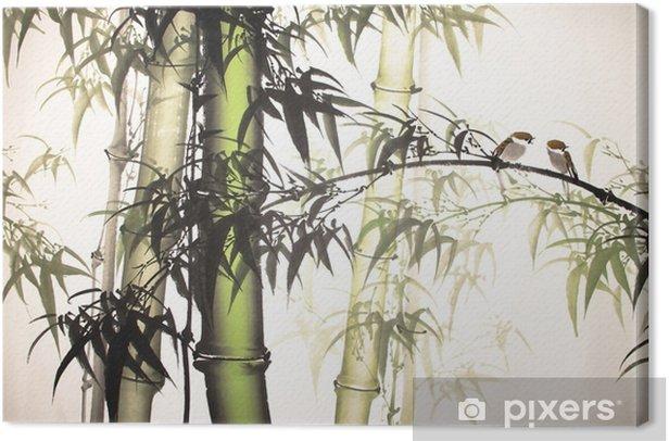 Obraz na płótnie Wyciągnąć rękę malarstwo tuszem bambusa - Rośliny i kwiaty