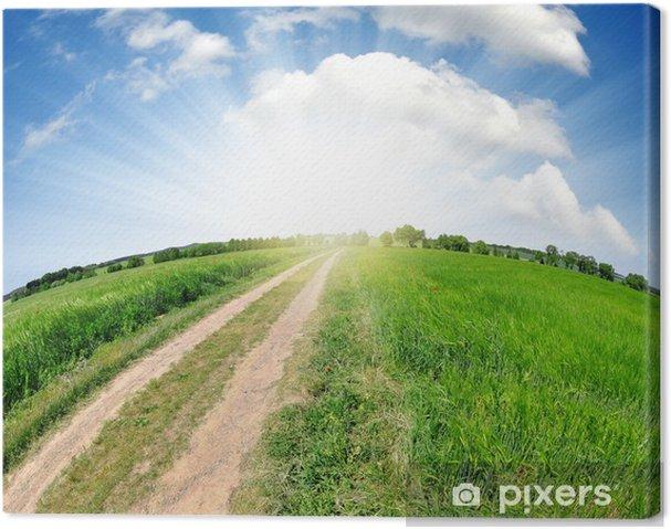 Obraz na płótnie Wycieczka w plener - Krajobraz wiejski