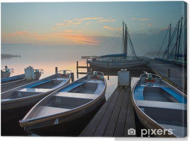 Obraz na płótnie Wynajem łodzi - Pory roku