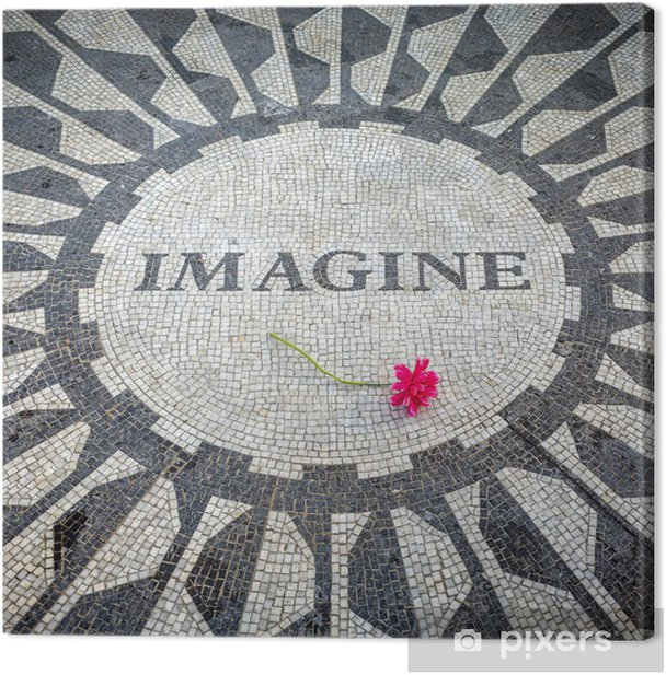 Obraz na płótnie Wyobraź sobie, Zaloguj się New York Central Park, John Lennon Memorial - Ameryka