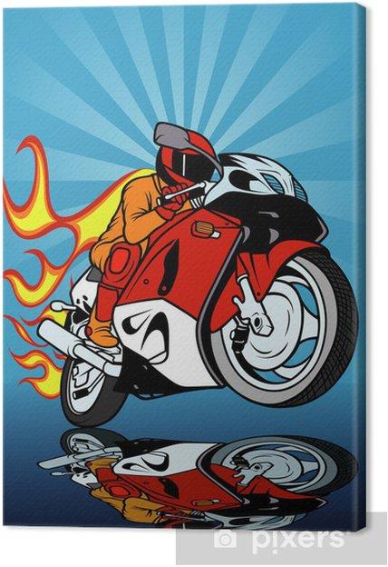 Obraz na płótnie Wyścigi motocyklowe - Transport drogowy