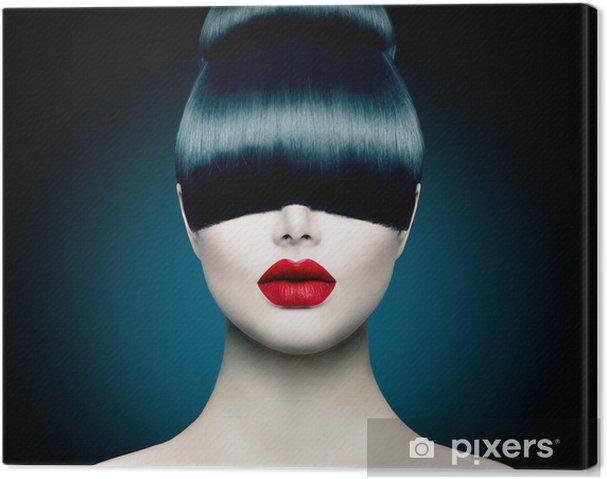 Obraz na płótnie Wysoka modelka portret dziewczyny z modnym Fringe - Tematy