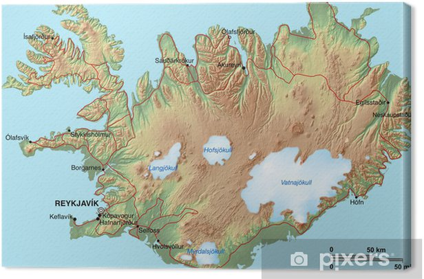 Obraz na płótnie Wyspa Karte - Europa