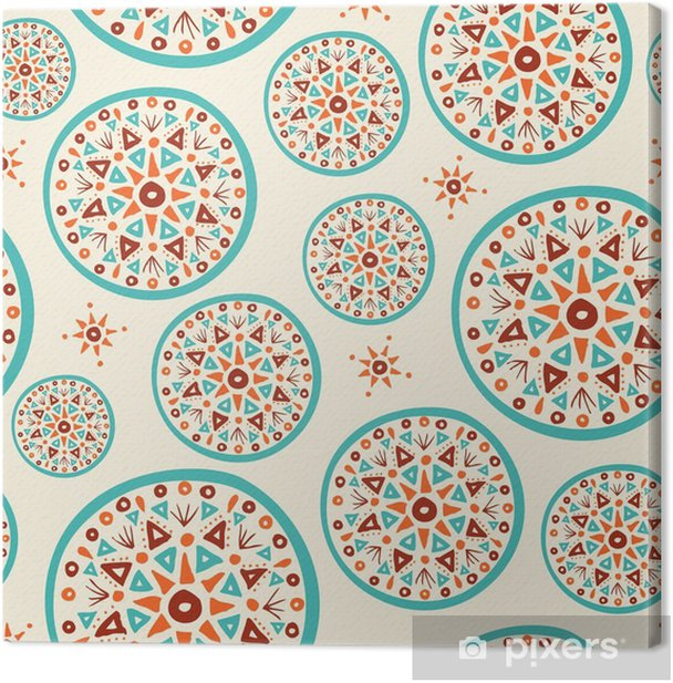 Obraz na płótnie Wzór Boho z ręcznie indian sztuki projektowania - Zasoby graficzne